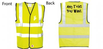 Hi-Vis Waistcoat Custom Text Hand Logo Simply Loveleh Brotherhood